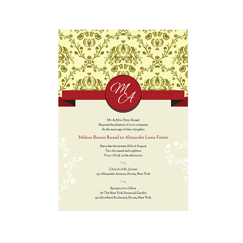 5x7 Flat Invitations & Envelopes (pack of 25)